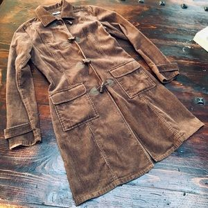 Halogen Brown Corduroy Trench Jacket